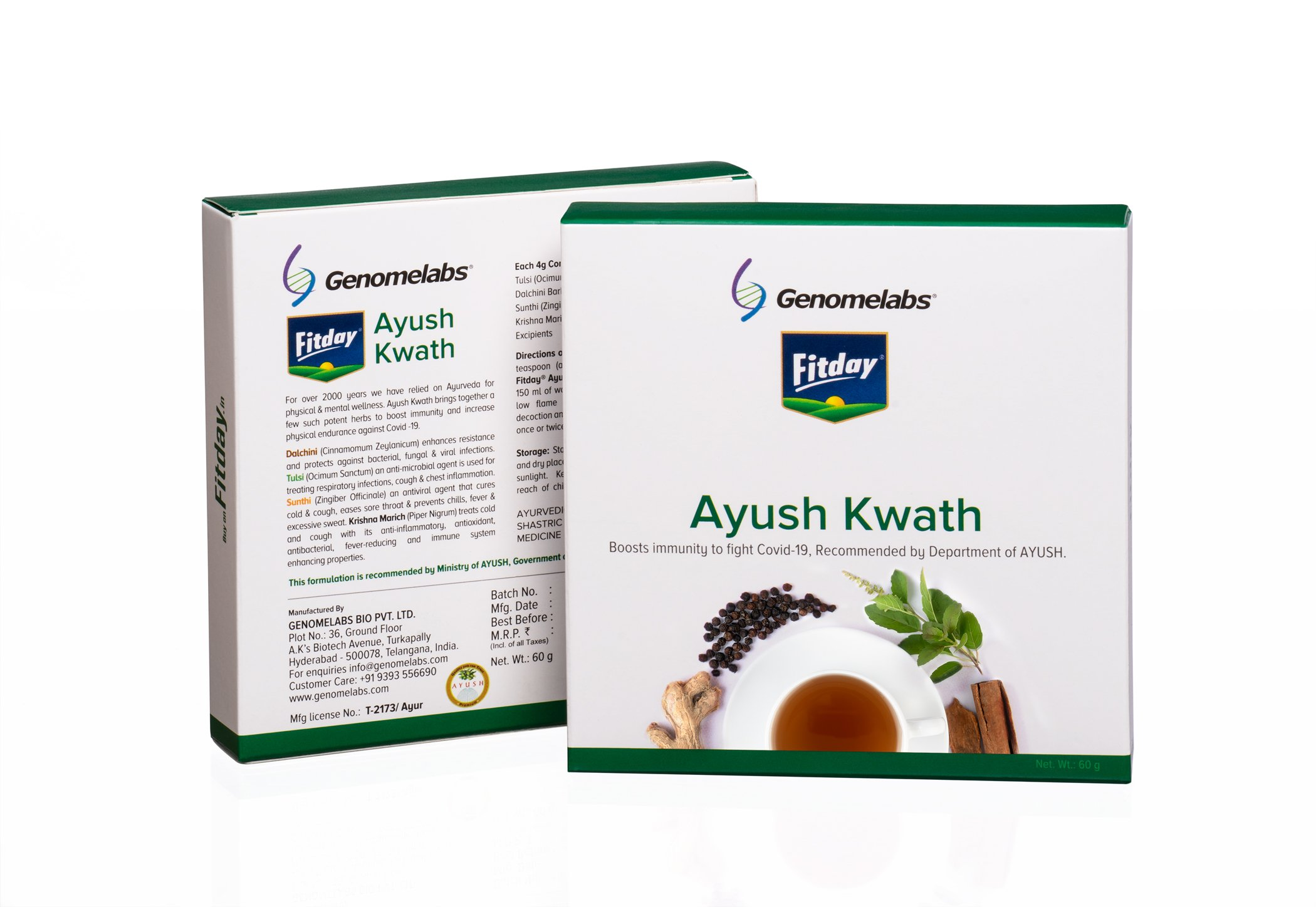 Fitday Ayush Kwath 60g Pack Of 3
