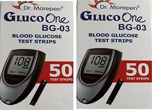 Dr Morepen BG03 Test Strips  100 Strips Multicolor