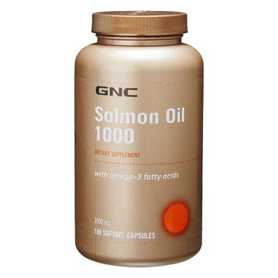 GNC Salmon Oil 1000 mg 180 Softgel Capsules