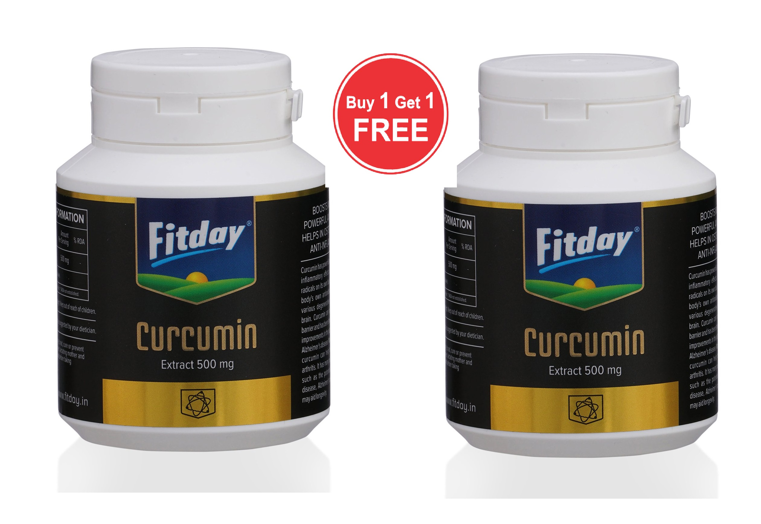 Fitday  Curcumin Extract 250mg Buy 1 Get 1 Free