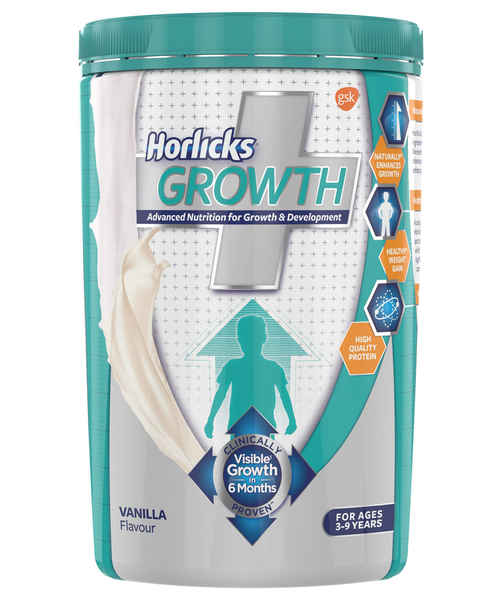 Horlicks Growth Plus – Health and Nutrition Drink 400 g Vanilla Flavor