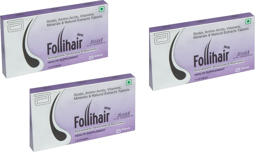 Follihair New Tablets 10'S PACK OF 3
