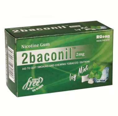 2baconil 2mg nicotin gum icy mint  50gums