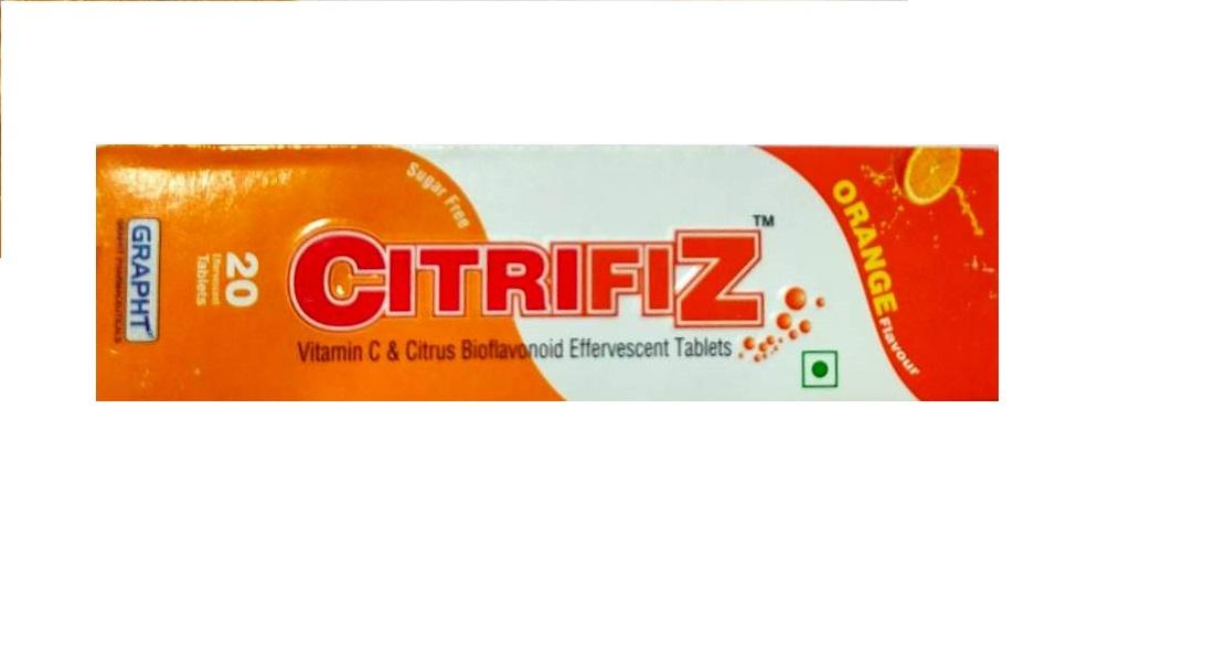 CITRIFIZ ORANGE  Vitamin C and Citrus Bioflavonoid Effervescent Tablets 20