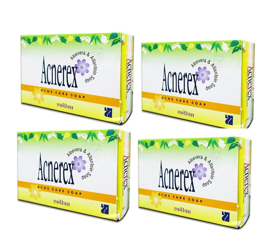 Acnerex acne care soap pack of 4