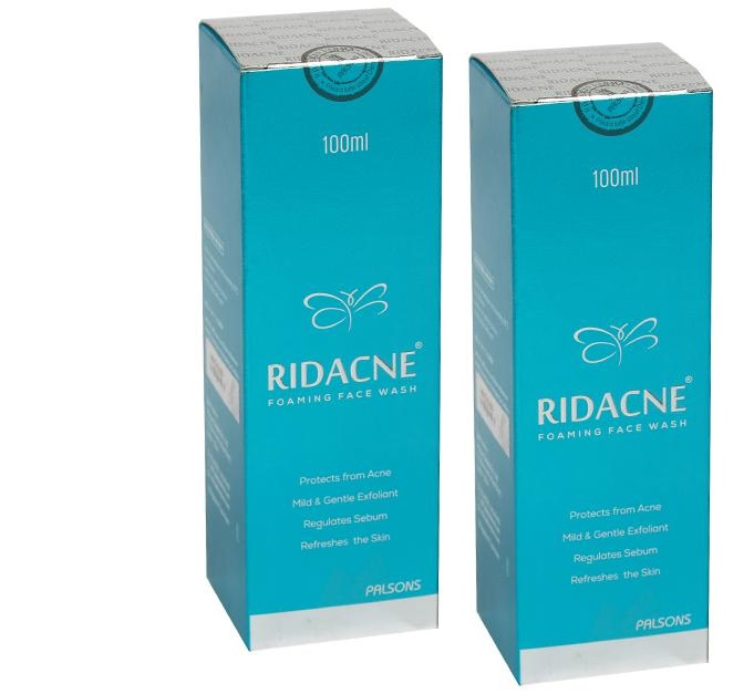Ridacne Foaming Face Wash 100ml pack of 2