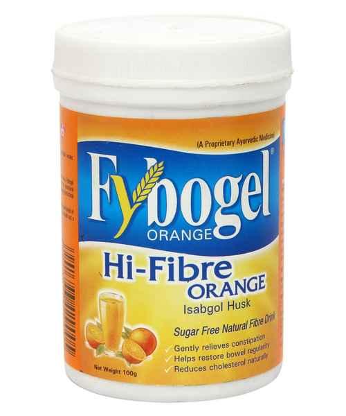 Fybogel Hi-Fibre Isabgol Husk Powder Orange Flavour 100ml