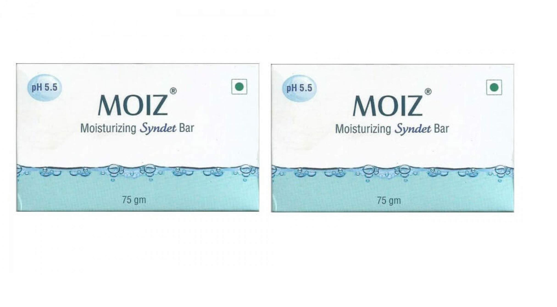 MOIZ moisturizing syndet bar pack of 2